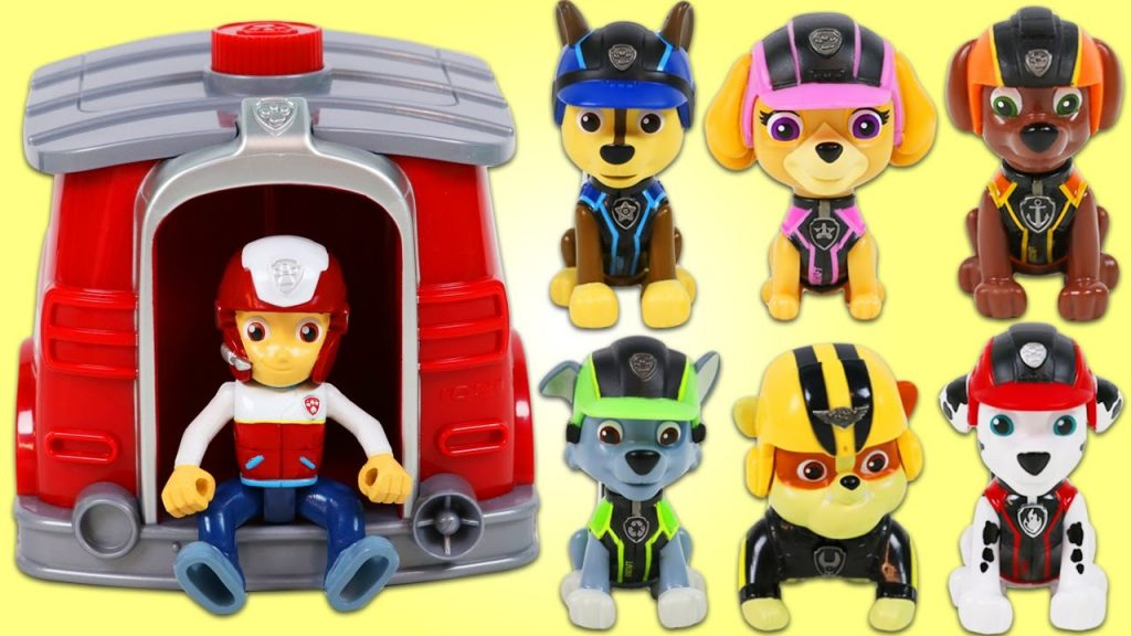 LEARN COLORS for Children with Paw Patrol Rescue Outfit Magic Gumball House Playset!