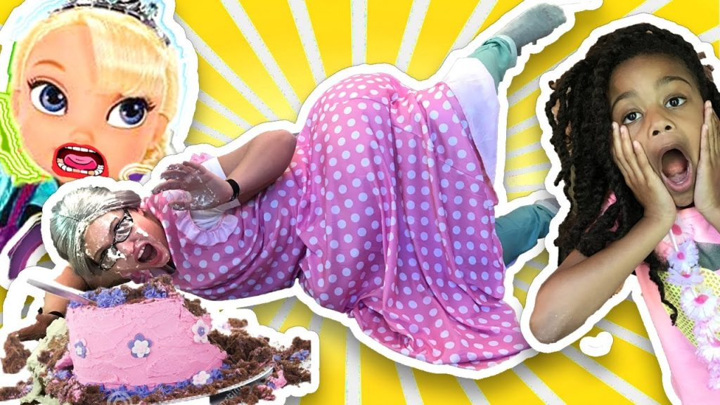 Clumsy Grandma magic Wand Transform Bad Kid Prank Family Fun Kids Pretend Playtime