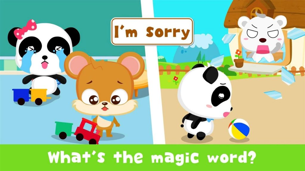 Baby Panda Learn The Magic Words To Be Polite Baby – Teach Children The Magic Words, Babybus Games.