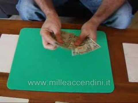 Paper to money carta in banconote magic tricks