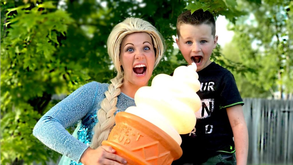 Magic Frozen Elsa & Super Kid Carter In Real Life | Kids Movie in Real Life
