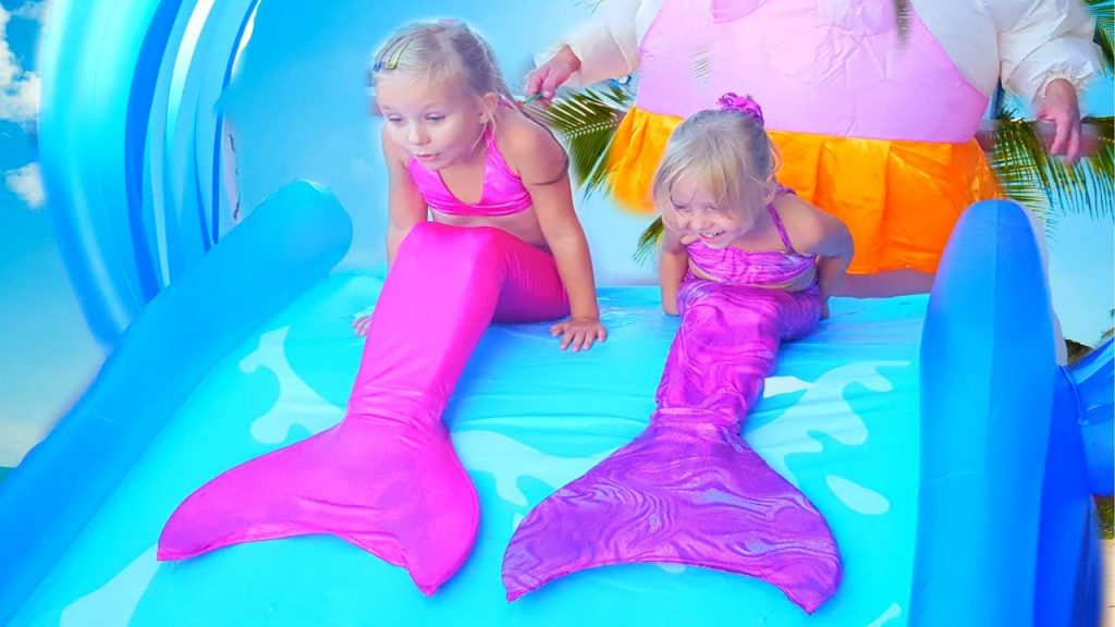 Indoor Playground playing The Mermaid Magic for kids Songs JOHNY JOHNY Yes Papa Nursery Rhymes