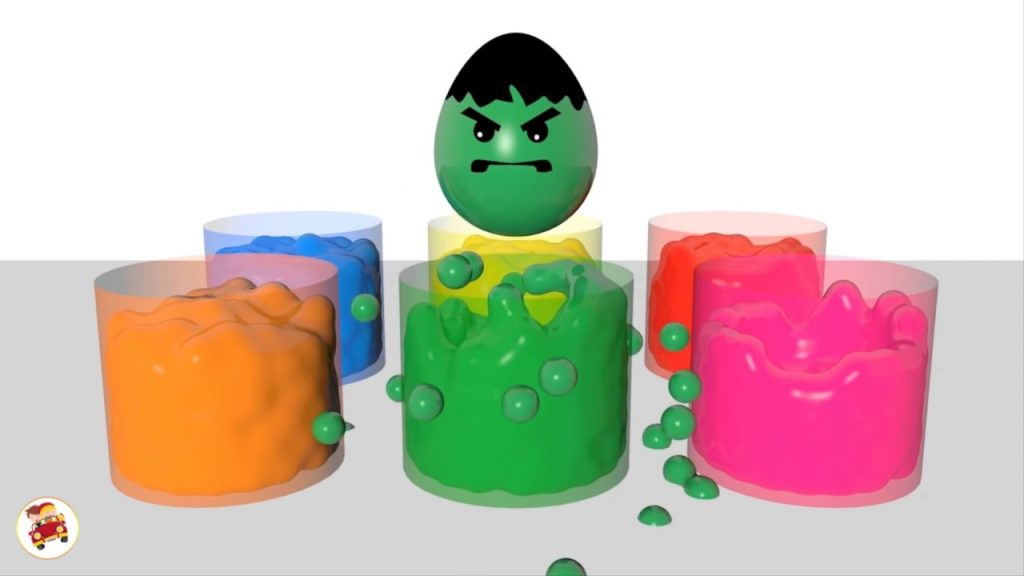 Learn Colors with Surprise Eggs Liquid Magic for Kids Toddlers   Learning Video for Kid