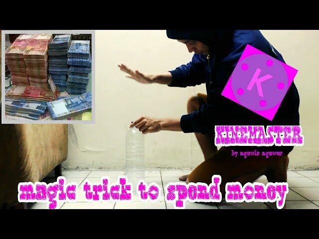 Magic trick to spend money#mengeluarkan uang#tutorial cara edit videonya ada dichannel saya