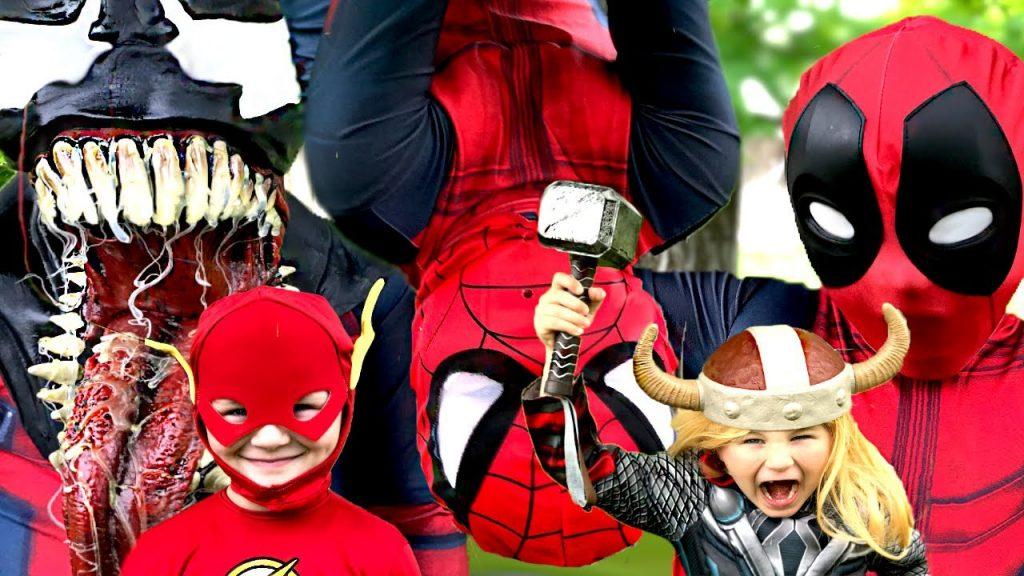 Superkid Magic Camera|Changed into Flash Spiderman Deadpool & Thor Vs Venom | Kids Movie IRL