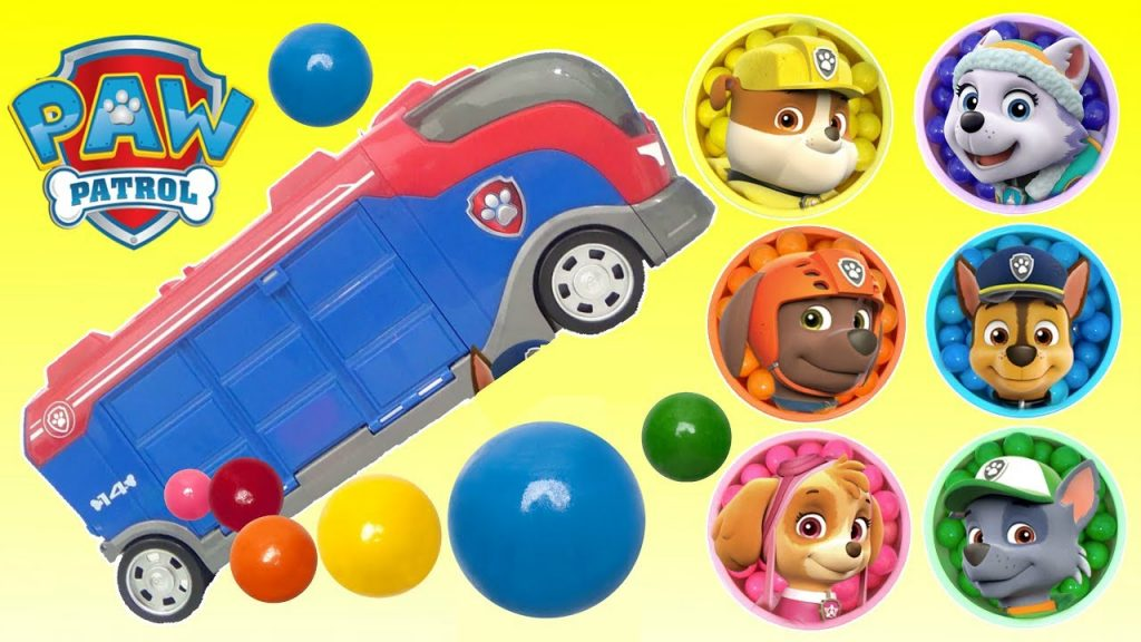 Best Learn Colors Video PAW PATROL MAGIC SURPRISE EGGS GUMBALLS  Learning for Kids and Children