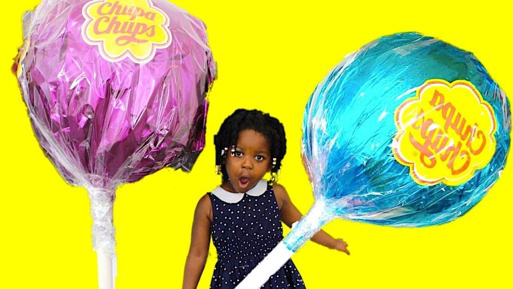 World's Largest GIANT CHUPPA CHUPS Lollipops Magic Transform Candy -Kids Pretend Playtime Family Fun