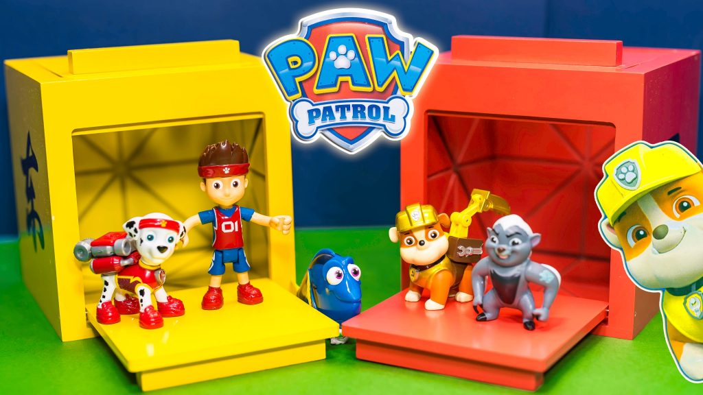 PAW PATROL Nickelodeon The Assistant Magic Surprise Boxes with Dory + Lion Guard + Trolls Kids Video