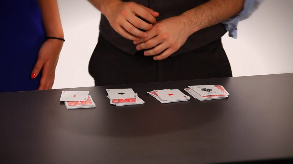 How to Do the 4 Aces Card Trick | Coin & Card Magic