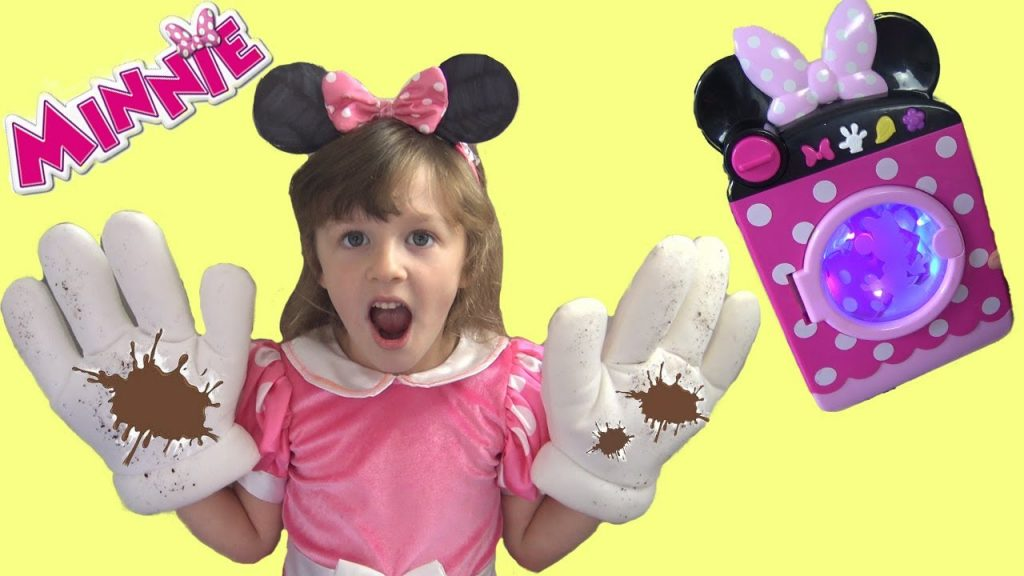 Minnie's MAGIC Washing Machine Accidents Happen! Minnie Mouse Fun Video for Kids