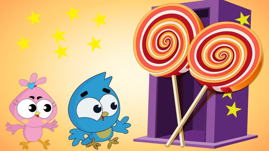 Birds Family The Kids Eat MAGIC LOLLIPOP Big Giant Full Episodes Cartoon Animation Nursery Rhymes