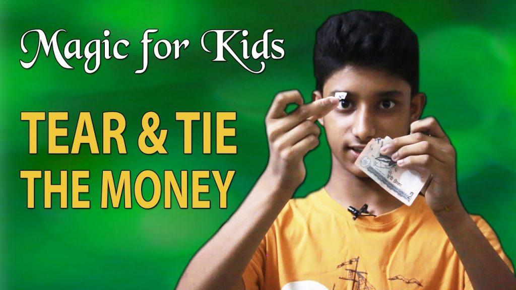 magic for kids, Tear and tie the money, taka chera o jora lagano, Magician Suhrid Hasan,