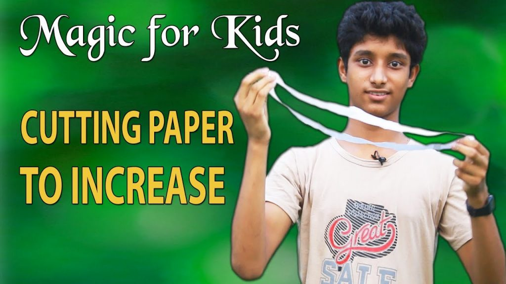 Magic for kids, Cutting Paper to increase, magician: Suhrid Hasan