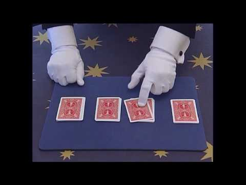 Simple Magic Tricks for Kids – Four Ace Card Trick  Revealed by Brisbane Magician