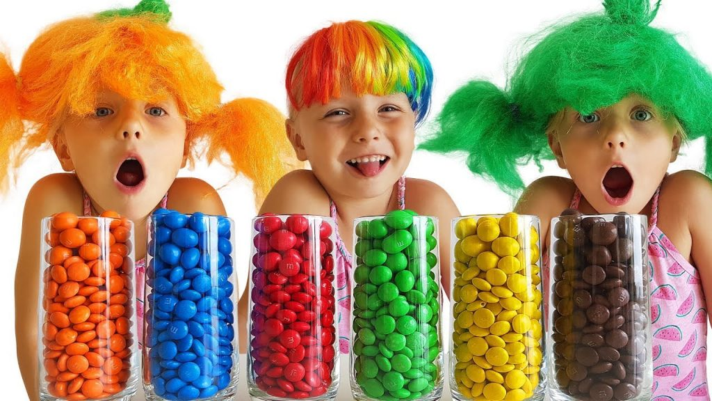 Bad Kid Steals M&M's A Lot of Candy Transform Magic Learning Songs for Kids Baby Shark song