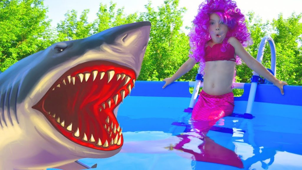 Bad Kid Magic Transform The Mermaid in Pool Finger Family Song Nursery Rhyme Playground for kids 2