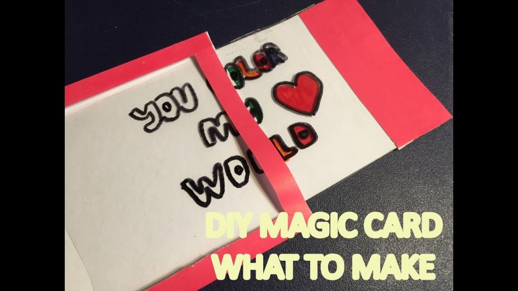 What To Make – DIY Love Magic Color Changing Card
