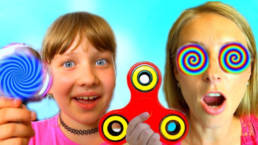 Bad Kids Magic Fidget Spinner Hypnotize Mommy! Family fun toys for kids!