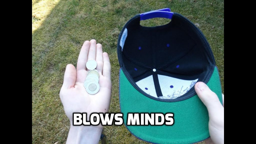 how to do magic coin trick with a hat!  magic coin tricks revealed! how to do magic tricks! #magic