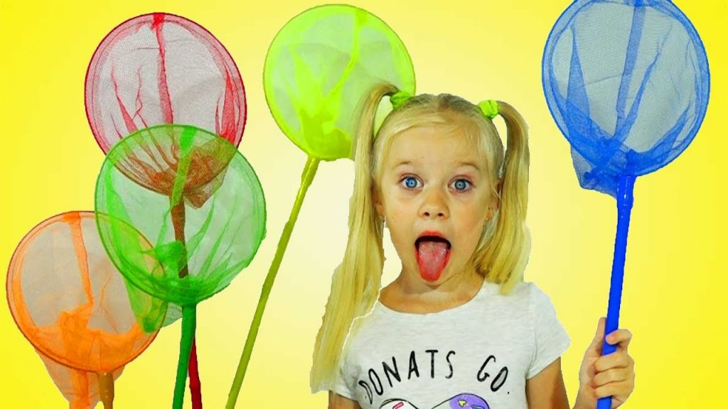 learn colours for kids Little Babies Playing Catching colored Magic Toys Nursery Rhymes