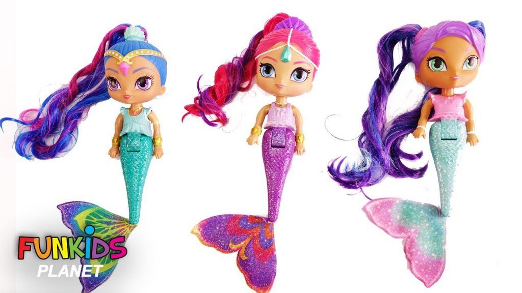 Learn Color Videos: Paw Patrol & Shimmer and Shine Magic Mermaids Bath Time