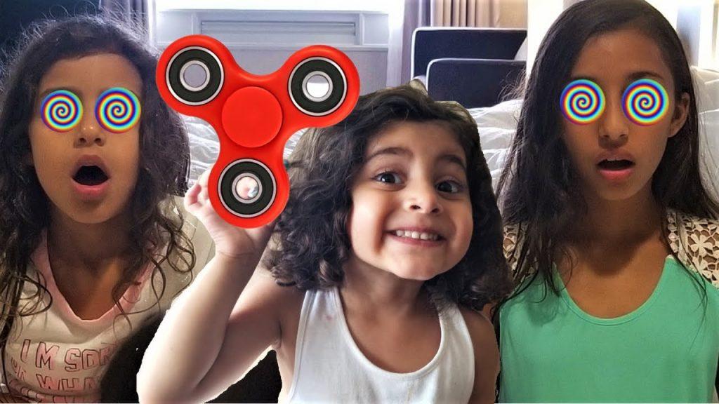 Bad kids Magic Fidget Spinner Hypnotize bad sister! family fun toys for kids!