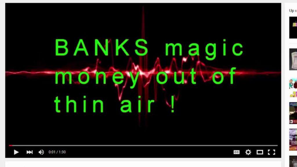 Banks magic money