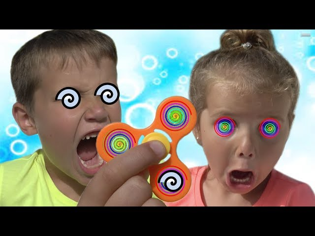 Fidget Spinner Родители превращают детей в СПИНЕР ГИПНОЗ Magic Hypnotize BAD KIDS Family fun toys