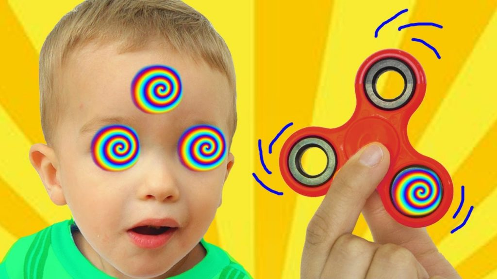 Bad Baby Magic Fidget Spinner Hypnotize Mommy! Family fun Nursery rhymes Toys for kids!