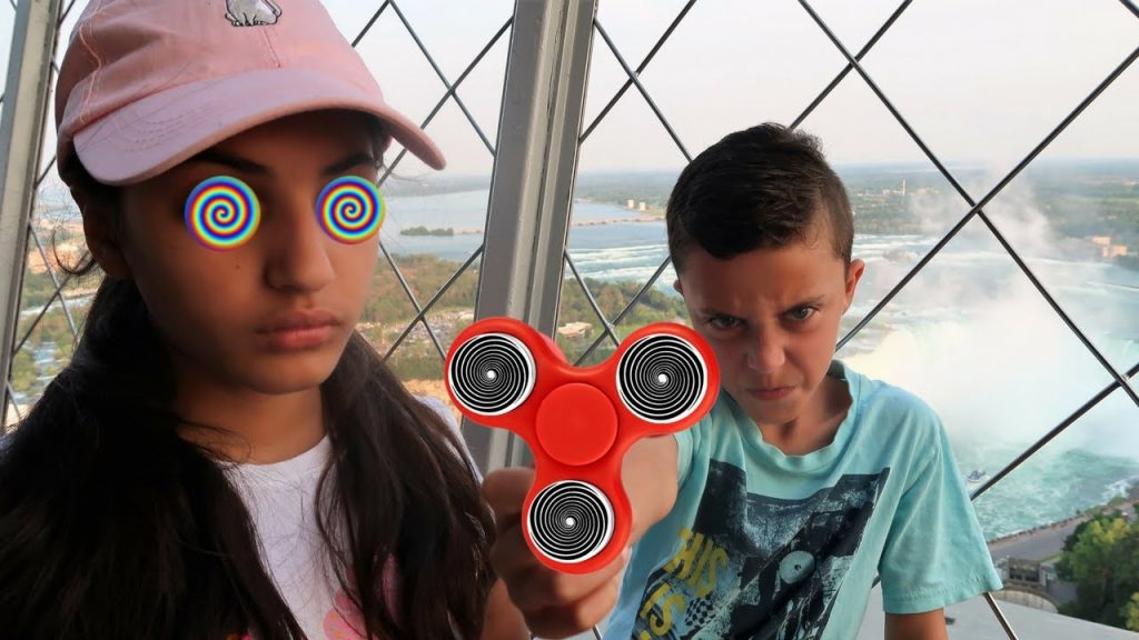 Bad Kids Fidget Spinner Magic Hypnotize Bad Baby Family fun toys!