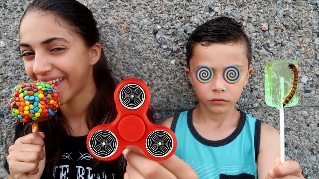 Bad Kids Magic Fidget Spinner Hypnotize Bad Baby IRL! Family fun toys for kids pretend play!