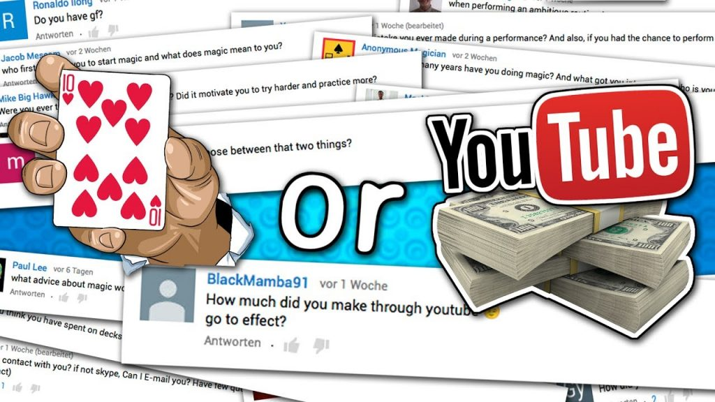 Answering YOUR Questions – Magic or YouTube ?, How much money do you make ?!