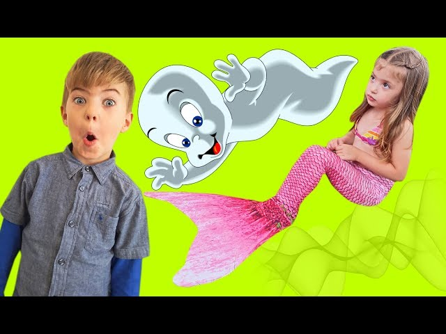 Bad Kid Magic Transform The Mermaid in Pool Finger Family Song Nursery Rhyme Playground for kids