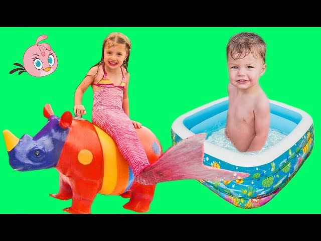 Bad Kid Magic Transform The Mermaid  in sea Finger Family Song Nursery Rhyme Playground for kids