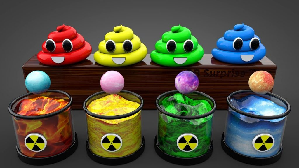 Learn Colors with Toilet Poop Colors with Magic Balls for Kids|Learn Colours with Balls for Children