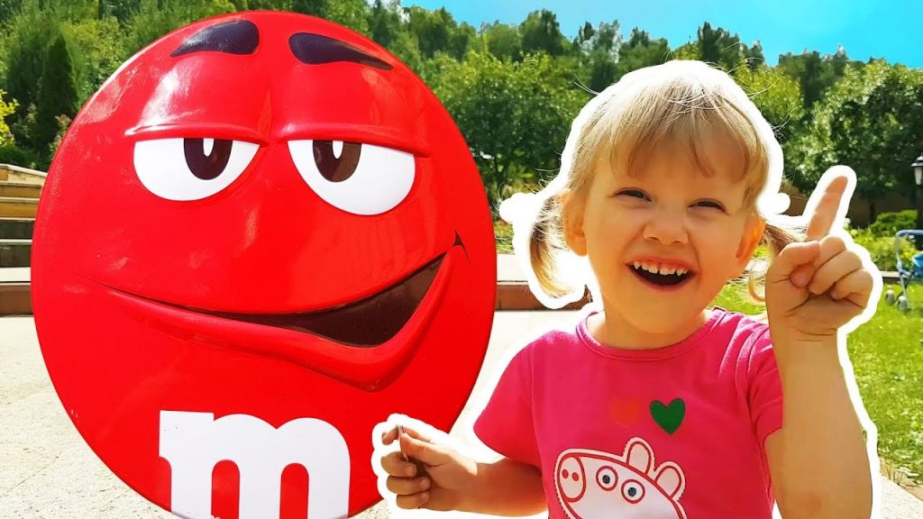 Bad Baby Learn Colors with Magic M&M's CANDY & Children Song Finger Family Nursery Rhyme for kids