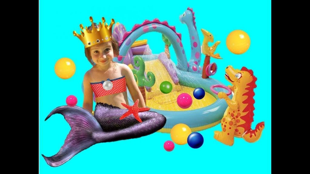 Bad Kid Magic Transform The Mermaid in sea Finger Family Kids Song Playground Learn Colors in pool