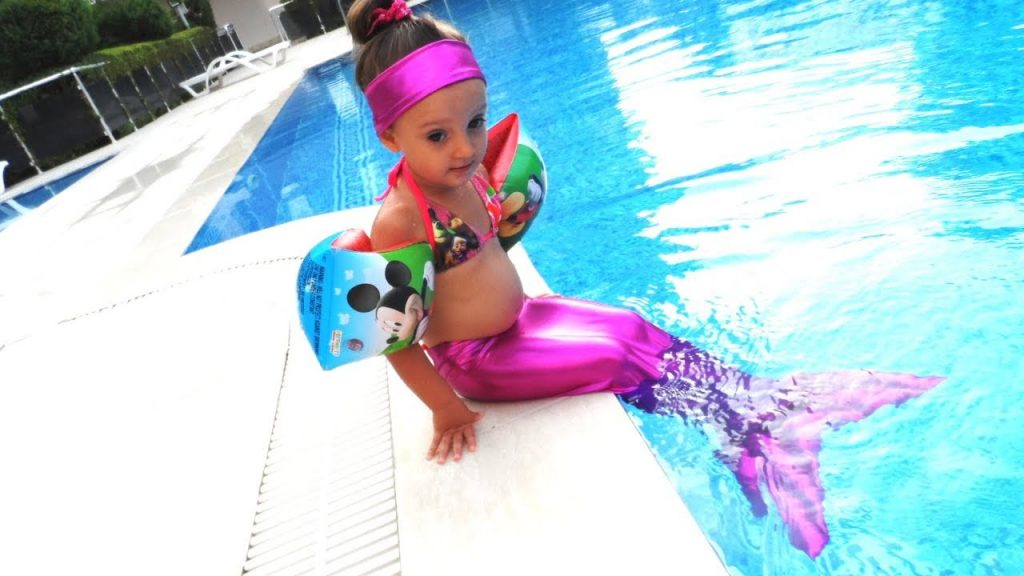 Bad Kid Magic Transform The Mermaid in pool Nursery Rhyme Playground for kids. The Mermaids tale