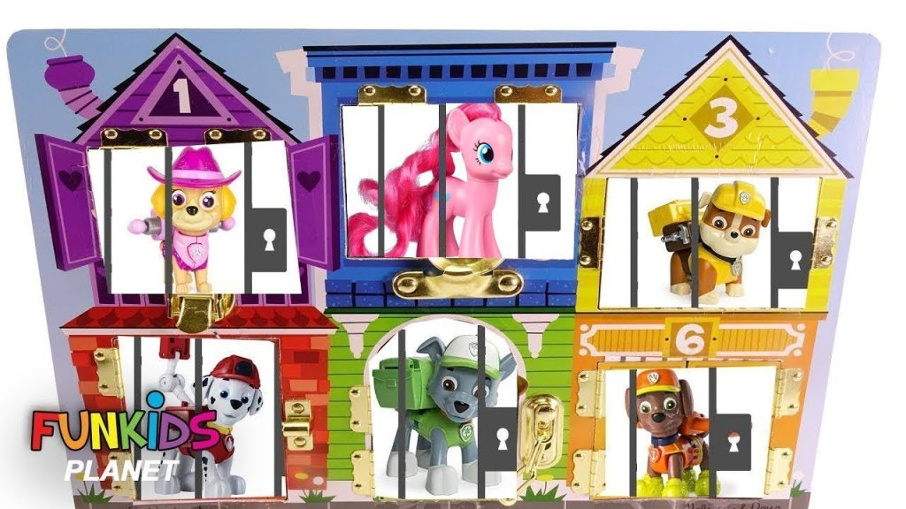 Best Learning Colors Video for Kids: Paw Patrol & My Little Pony Jail Rescue Magic Gumballs