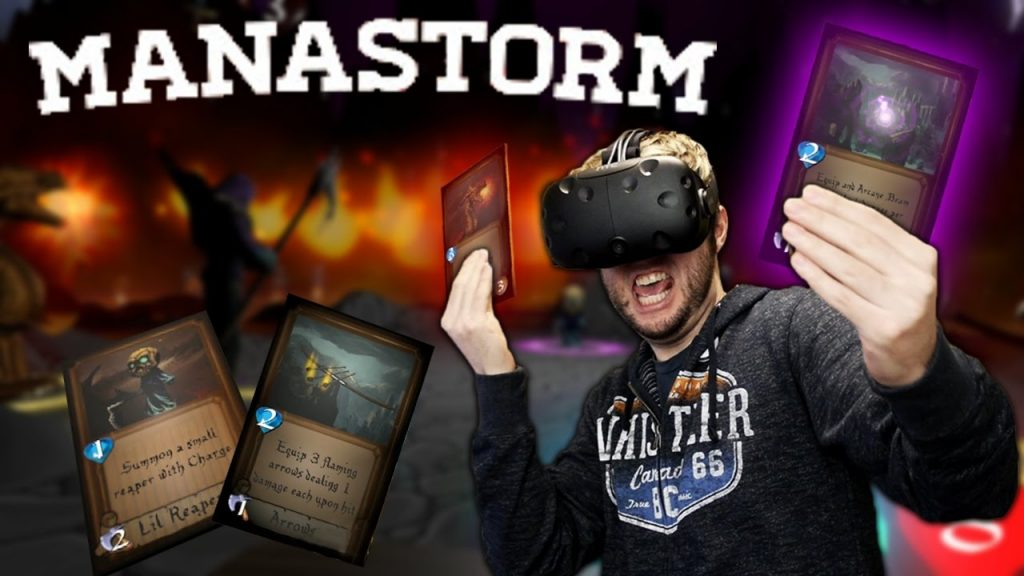MAGIC CARD GAME IN VIRTUAL REALITY | Manastorm Gameplay (HTC Vive VR)