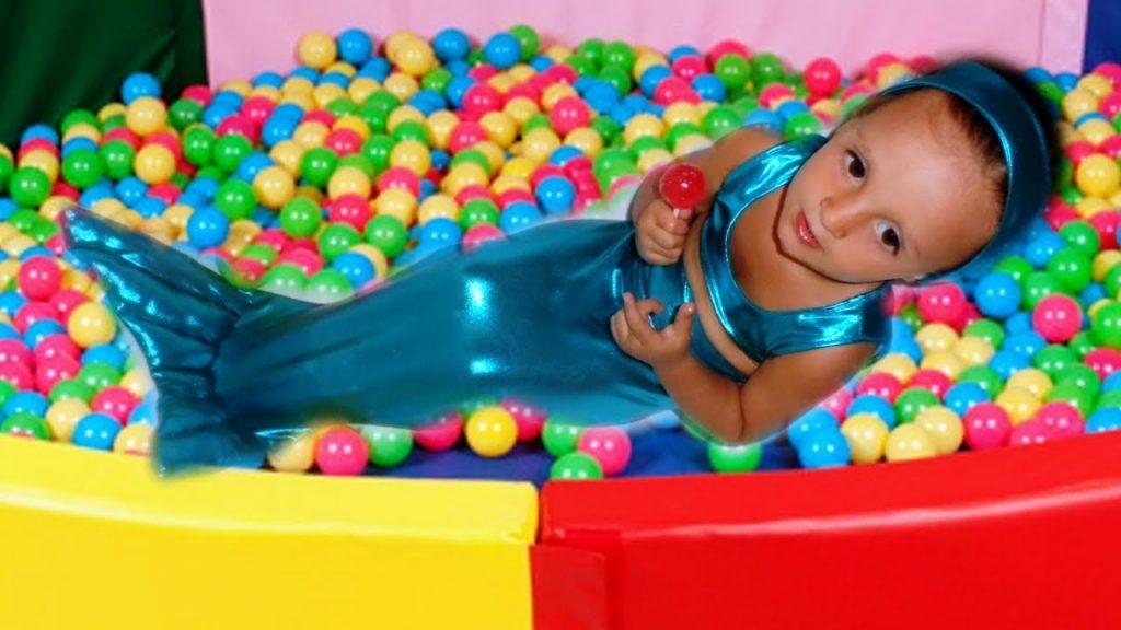Bad Kid Magic Transform The Mermaid in pool Nursery Rhyme Playground for kids. The Mermaids tale