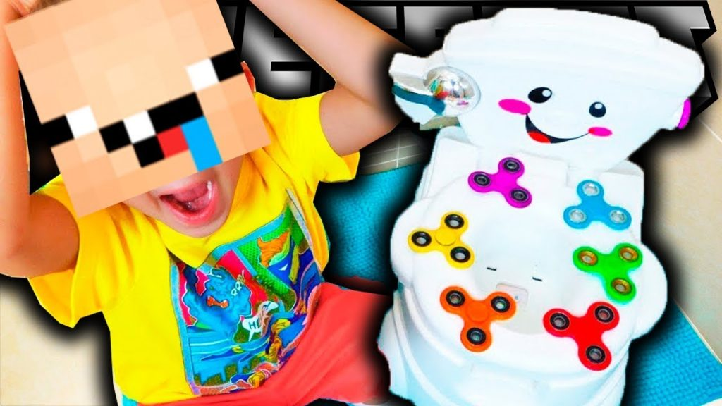 Bad Kids Magic Fidget Spinner Flight on Toilet in Minecraft!Bad baby КРУТЯТ СПИННЕР В МАЙНКРАФТ