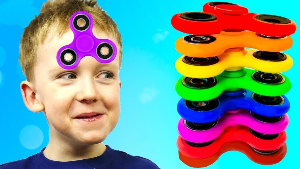 Bad Baby Magic Fidget Spinner Challenge for Kids ФИДЖЕТ СПИННЕР челлендж & РУМ ТУР Картонка