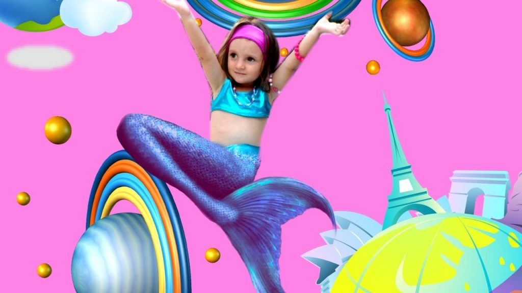 Bad Kid Magic Transform The Mermaid in Pool Finger Family Song Nursery Rhyme Playground