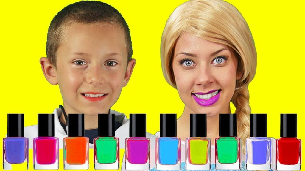 Frozen Elsa Magic NAIL POLISH Prank KID Spiderman! w/ Maleficent Cop'S IRL Superhero in Real Life