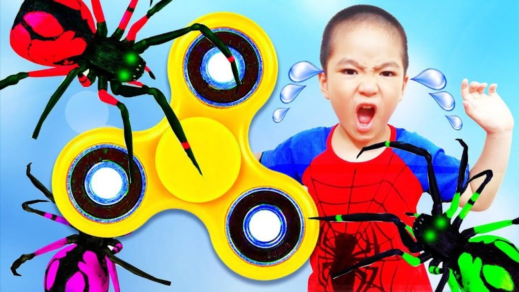 Bad Kids Crying Baby Learn Colors with Giant Magic Fidget Spinner Nursery Rhymes Song for Children