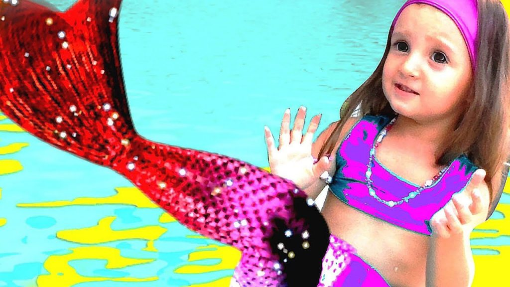 Bad kid Mermaid transform in Pool  Playground | Nursery rhyme vs  MAGIC TOYS  kids family song