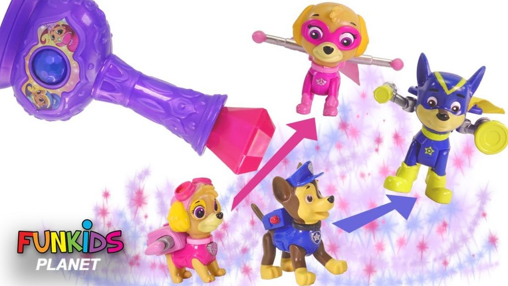 Learning Colors for Kids: Paw Patrol uses Magic Bottle Changes into Super Pups