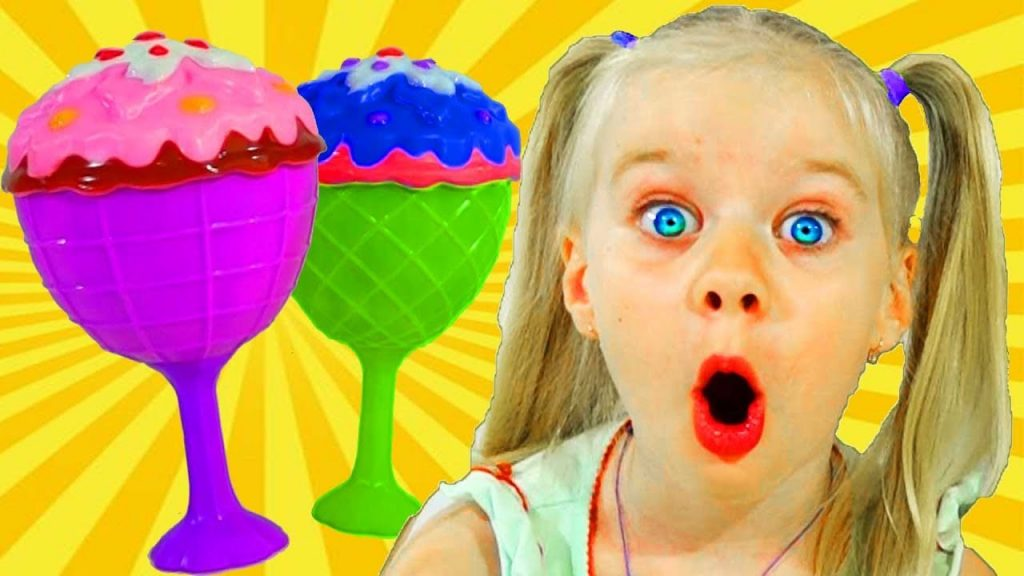 Doll Ice Cream and bad Kids Magic turned colorful toys with fun music