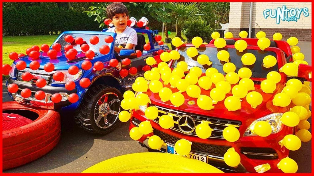 Bad Kid Magic Little Driver on Power Wheels Cars Transform Colored Cars with Ball Pits Fun Play Time